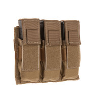 TAC SHIELD Triple Universal Pistol Mag Molle Pouch (Coyote)