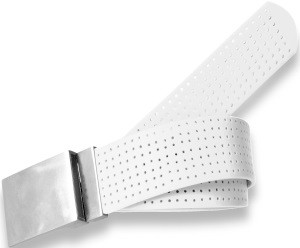 Plain Buckle- Antique White Perforated