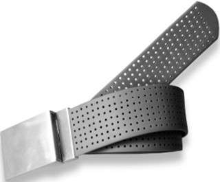 Perforated Belt Basic Plain Buckle Coal Black