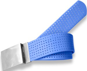 Plain Buckle- Royal Blue Perforated