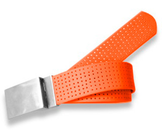 Perforated Belt Basic Plain Buckle Tangerine