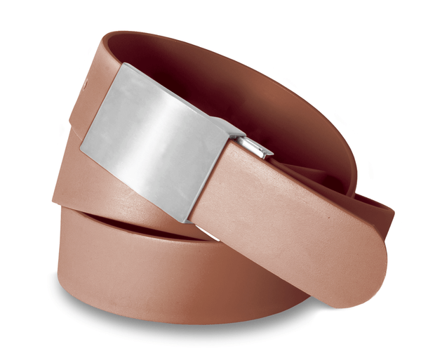 Solid Belt Plain Buckle Mocha