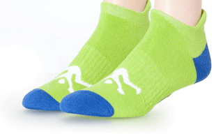 Ankle Sport Socks Lime & Royal