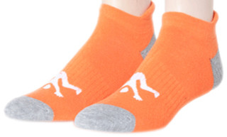 Ankle Sport Socks Orange & Grey