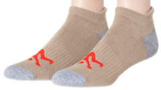 Men's Ankle Sport Socks Tan & Grey