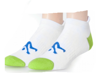 Ankle Sport Socks White & Lime