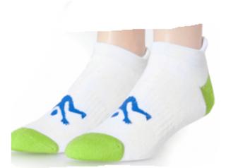Ankle Sport Socks White & Lime