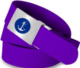 Anchor Logo- Purple Solid Belt