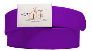 solid belt- purple