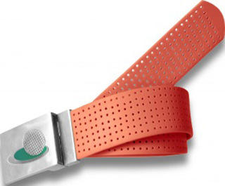 Perforated Belt Dream Logo Tangerine