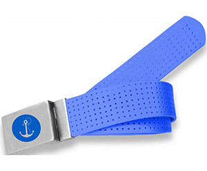 Perforated Belt Anchor Logo Royal Blue