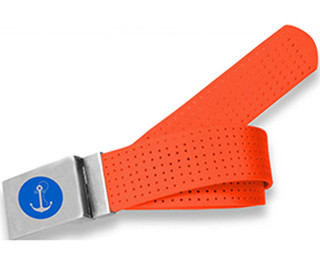 Perforated Belt Boat Anchor Logo Tangerine