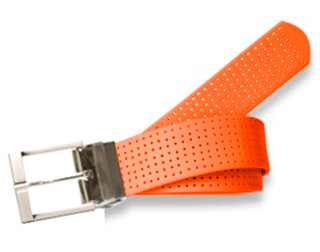 Perforated Belt Basic  Prong Buckle Tangerine