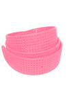 Bubblegum Pink Perforated