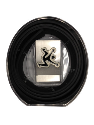 Clearance- Black Belt Solid with Black Jumper Buckle