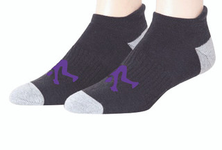 Ankle Sport Socks Black /Purple logo
