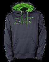Miken M-Logo Hoodie Grey/Green