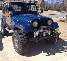 CJ front bumpers custom solid.