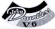 Decal sticker 70-71, CJ  Air Cleaner
