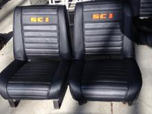 Embroidered seats set SC-1 or Commando