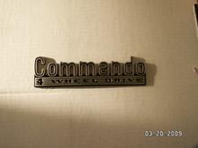 Jeep Commando Emblem