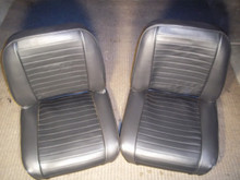 Black Horazontal Flat Pleated single Seat. CJ as Well