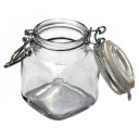 """Glass Jar with Snap Lid 2.0"""" x 3.0"""""""