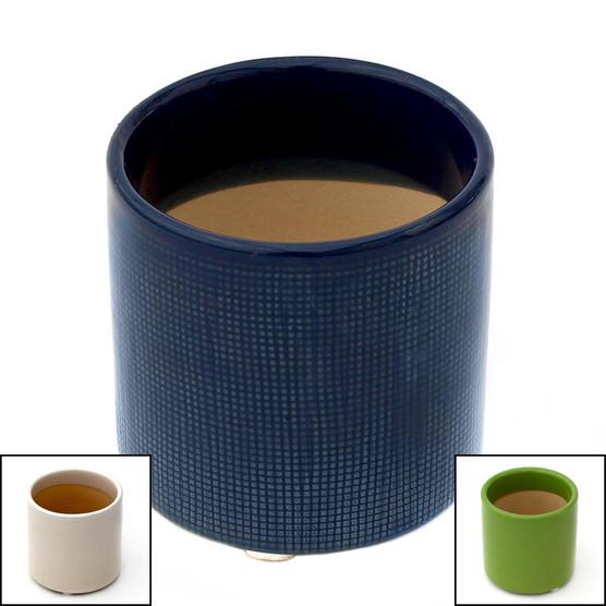 "Cylinder Pot 3"" x 3"" w/ Drainage Hole"