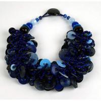 Blue Velvet Necklace