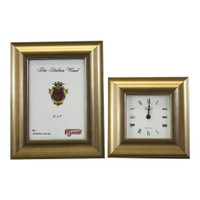 Gold Picture Frame and Alarm Clock
