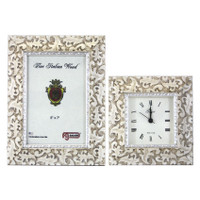 Shabby Chic Picture Frame and Alarm Clock