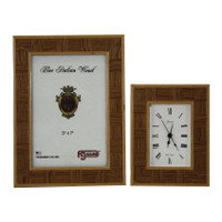 Inlay Picture Frame and Alarm Clock