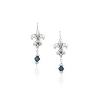 Mignon Faget - Fleur de Lis Earrings