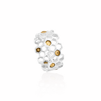 Hive Double Row Ring