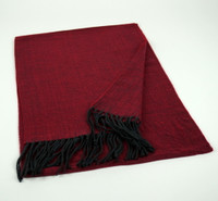 Cashmere - Red Herringbone Scarf