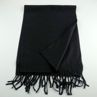 Cashmere Scarf - Solid Black