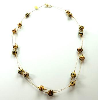 Murano glass safari necklace la bella fiona - Safari murano jewelry ...