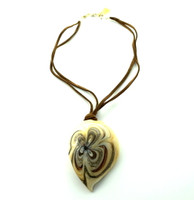 Earth Flower Shell Pendant