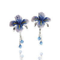 Franz - Blue Iris Earrings