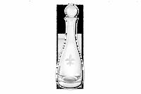 Fleur de Lis Crystal Wine Decanter