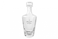 Fleur de Lis Crystal Whiskey Decanter