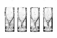 Fleur de Lis Crystal Wine Glasses