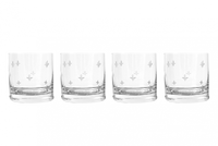 Fleur de Lis Crystal Double Old Fashioned Glasses