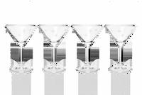 Fleur de Lis Crystal Martini Glasses