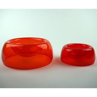 Medium Pet Bowl shown with Small Bowl (Sold Separately)