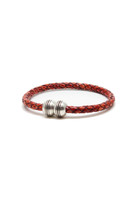 Torino Leather  - Braided Hemisphere Bracelet
