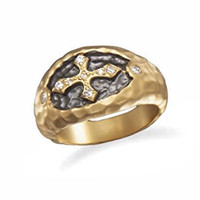 Cross Ring - 14K Gold Plated