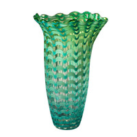 "Dale Tiffany Art Glass - ""Waterfront"" Glass Vase"