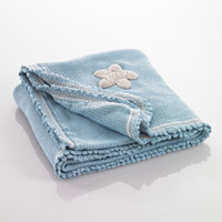 Pebbles - Blue Baby Blanket