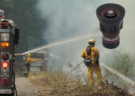 Quick attack to extended attack-the 110/23 nozzles is a workhorse. Photo courtesy of the USDA